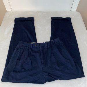 Lauren Ralph Lauren 34 x 31/32 cuffed navy pants EUC